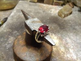Red tourmaline ring by Debals