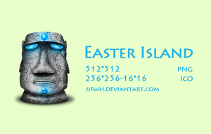 Easter island stone by jjfwh
