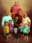 Narayan Debnath all Characters by scorpy-roy