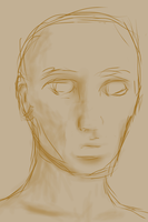 Freehand Sketch Male Head by naca0012