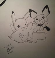 pikachu and pichu by bleachtardfull