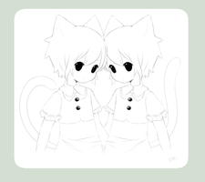 .:WIP : Cecil and Cyril:. by InkHeartPaw