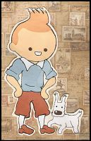 Tintin et Snowy: cut+paste by Choux43