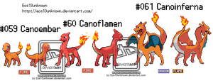 #059#060#061(Primal Charizard and Evolution line) by Eos13unknown