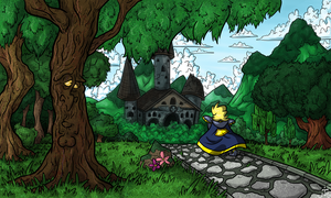 Art Test - Sir Dufius Web Comic Background Style by Bradshavius