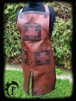 Dwarvish leather appron by Feral-Workshop