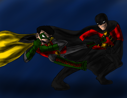 Damian vs Red Robin by Maygirl96