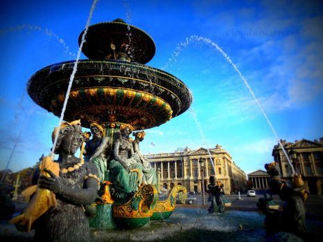 Fountain of the Seas, Paris - La Fontaine des Mers by Cloudwhisperer67