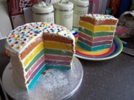 Rainbow Cake by LianneC