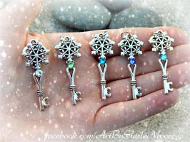 Mini Ice Crystal Keys by ArtByStarlaMoore