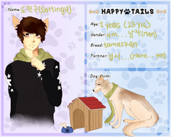 Happy tails| Do Mingu| Dog by Kimchiitazztic