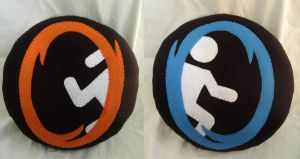 Portal Plush Pillows by P-isfor-Plushes