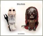 Lord of the rings charm set - Saruman and UrukHai by buzhandmade