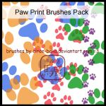Paw Print Brushes Pack by LauNachtyr