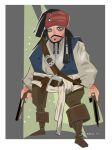 CAPTAIN Jack Sparrow by Paperbag-Ninja