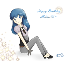 Happy B-day Hikari96 by firehorse6