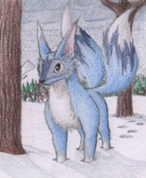 Two Tailed Snow Fox by frostystar