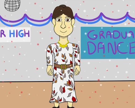 Ms. Avery at the 1989/1990 Graduation Dance by DarkwingFan