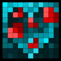 red hearts in the blue by elen89