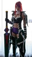 Erza Scarlet fairy Tail Cosplay Black -Wing Armor by vikkiievoltage