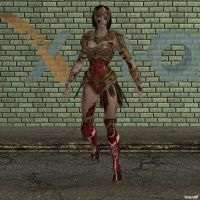 XNA Wonder Woman injured by X-N-A