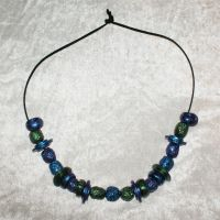 Blue Green and Purple Bead Necklace by kbhollo