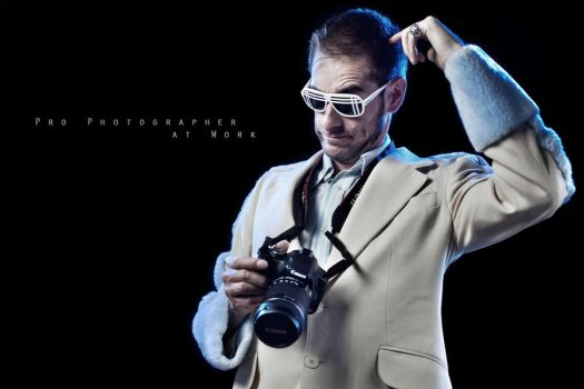 Pro Photographer at Work by shayne-gray