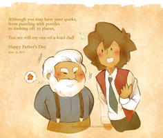 Father's Day: Young Hershel and Roland by MagicianCelemis