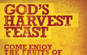 God's Harvest Feast Church Flyer Template by loswl