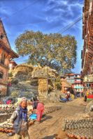 Potter Square Bhaktapur by Triadasoul