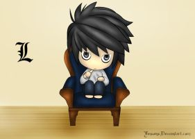 Death Note: Chibi L by winter-kid