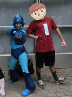 Mega Man and Villager by himefuji