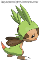 Sugimori Style= Chespin by GeneralGibby