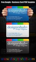 Free Google Plus Business Card PSD Template by MGraphicDesign
