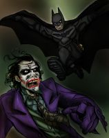The Dark Knight VS. The Joker. by scootah91