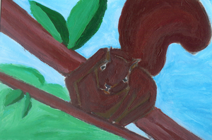 Squirrel Painting by sweetsnow73