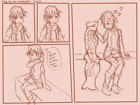 The truth about Aezel's Scarf by bombpersons