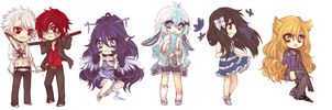[ 10.29.2-13 ] chibi commissions by akiicchi