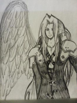 Quick Sephiroth Drawing by KayleeisFluffeh