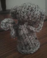 Doctor Who weeping angel amigurumi by iheart8bit
