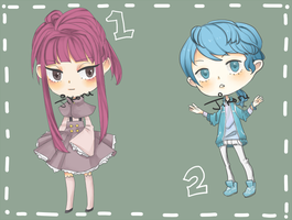 Adoptables: 1 and 2 Available by jikoru
