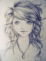 girl sketch by Sweetestsunset