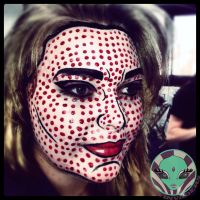 Pop paint makeup by Face-Invaders