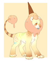 Ice cream cake lion adopt [CLOSED] by Kemikel