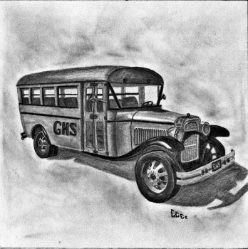 1932 Model School Bus by PsychoJailBird
