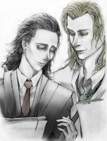 Thor and Loki: Ooh, nice tie. by Vane401