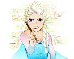 Elsa the Artist by Vanilla-Fireflies