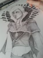 Mage with pencil and marker [W.I.P.] by Sylthuria