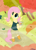 Fall Winds Fluttershy by WillDrawForFood1