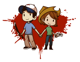 TWD Chibis: Glenn and Maggie by bear-arms